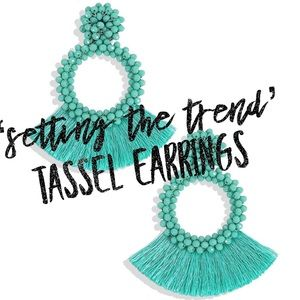 Jewelry - 'Setting The Trend' Tassel Earrings In Turquoise